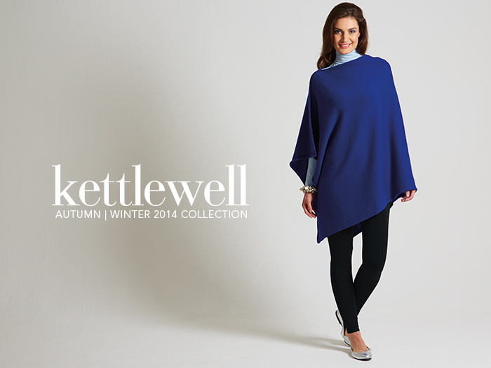 The Merino Poncho from Kettlewell Colours Autumn / Winter Collection 2014