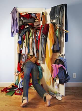 A bulging wardrobe