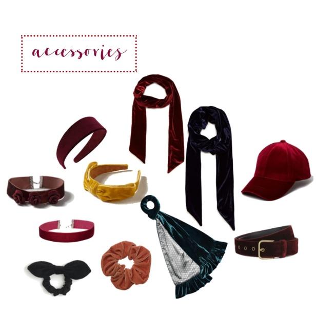Velvet accessories